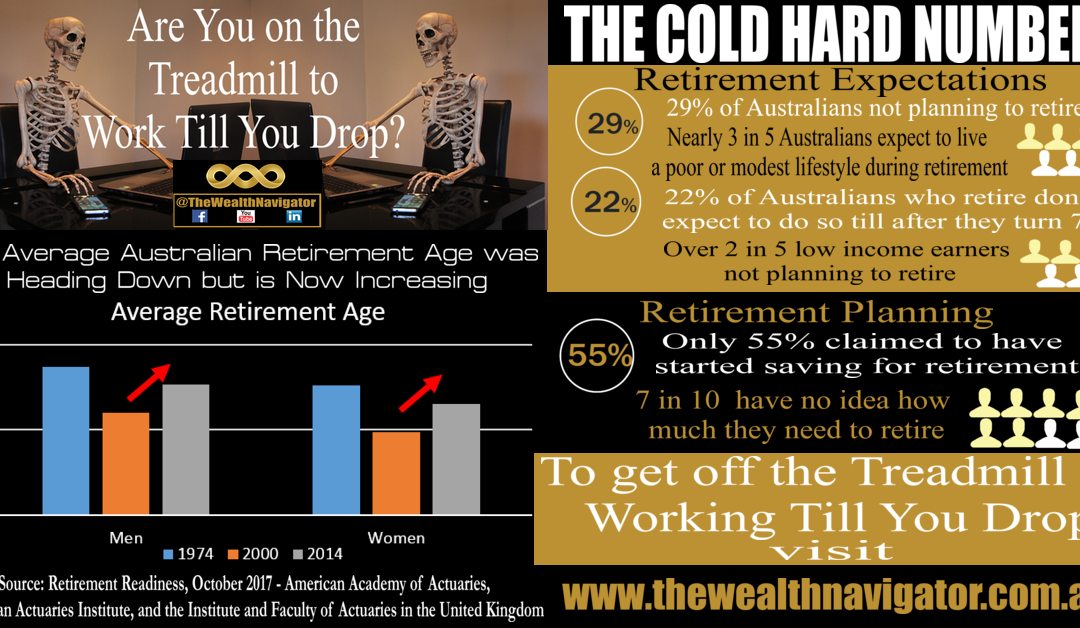 Despite 25 years of Compulsory Superannuation in Australia, most people remain on the Treadmill to Work Till They Drop