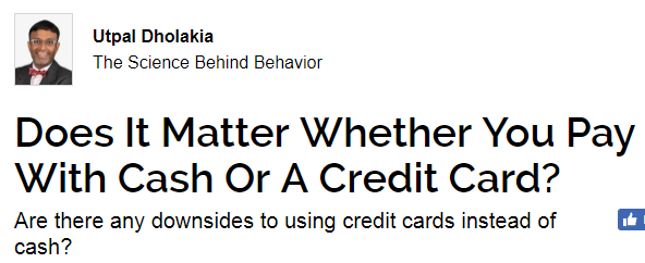 cash versus credit card Learn about the basic reasons of choosing debt or credit cards for  the data:  using your credit card for points, cash back, and other perks.